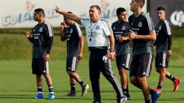 Entrenamiento de la selección mexicana de fútbol