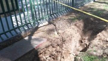 Sustitución de drenaje colapsado Parque de Morales 1