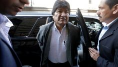 Bolivia's former President Evo Morales arrives for a news conference, in Mexico City