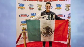El Potosino Franco Saldaña Tricampeón Mundial Culturismo Natural