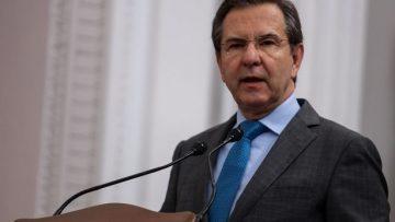 Esteban Moctezuma, secretario de Educación Pública,  durante la inauguración de la FILPM 2020.